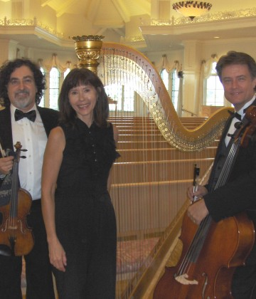 Harp Strings Inc performing at Disney wedding pavilion