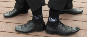 Groom and Best Man socks