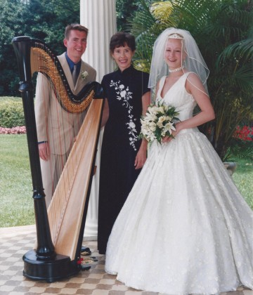Wedding Event with harpist Catherine Way performing