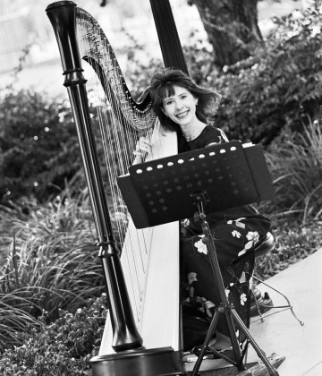 Catherine Way is a professional harpist for Harp Strings Inc