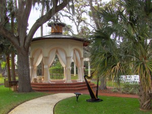 photo of Tavern & Chapel gazebo with Harp